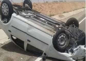 مصرع 2 وإصابة 5 أخرين فى حادث انقلاب سيارة بسوهاج