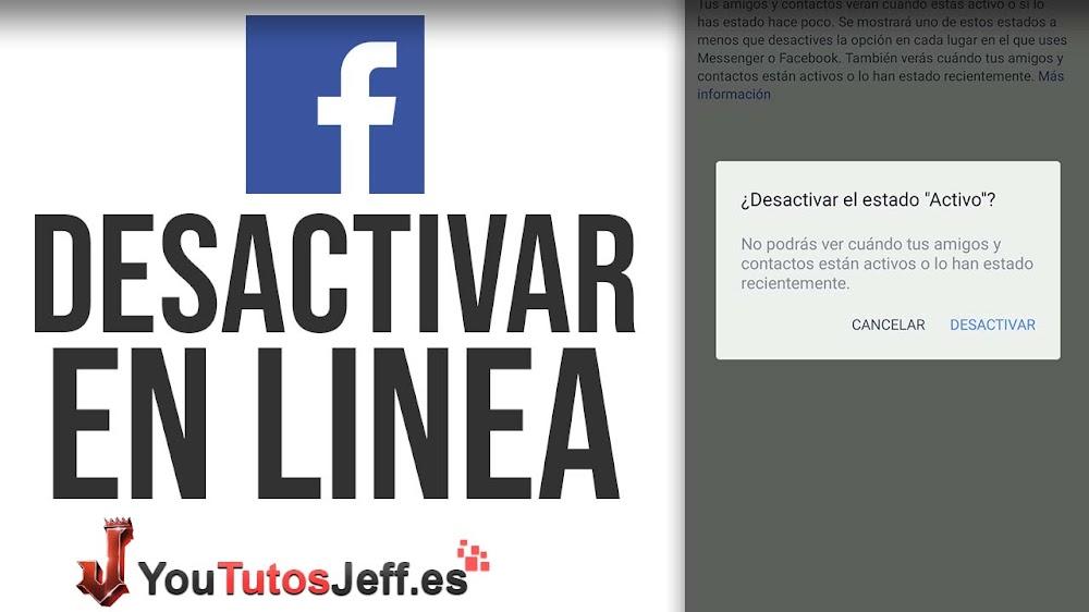 Como Quitar Activo Ahora en Facebook, Ocultar En Linea de Facebook
