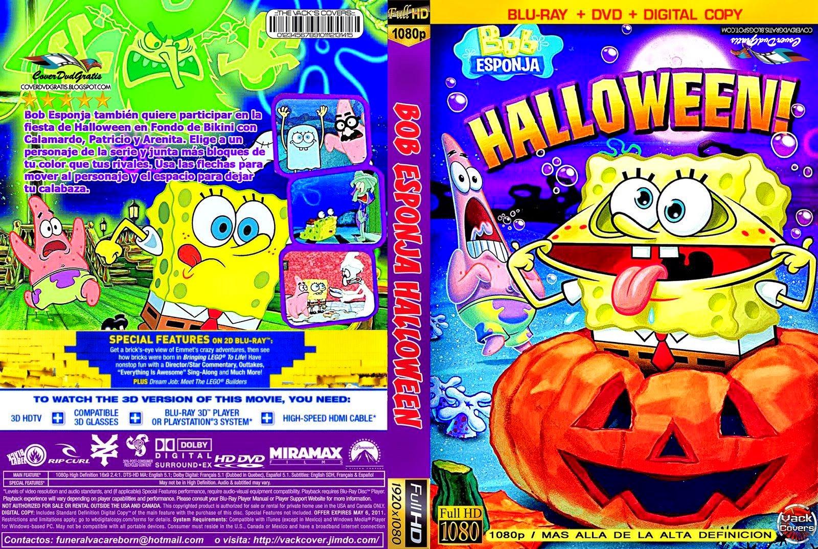 Bob Esponja Halloween 2014 DVD COVER  CoverDvdGratis