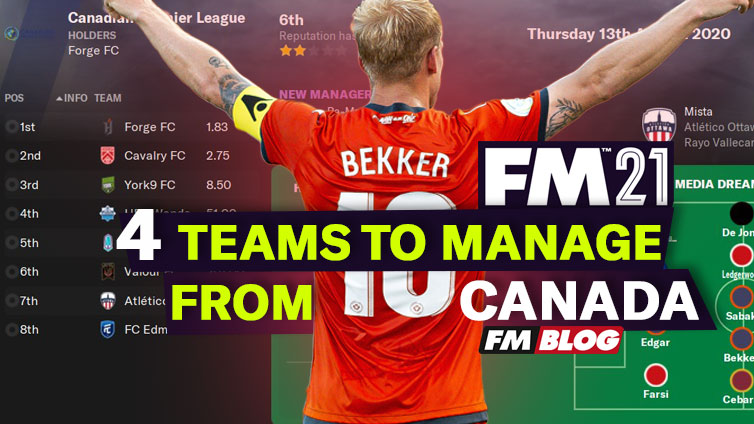 4 Teams to Manage in the Canadian Premier League in Football Manager 2021