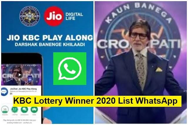 kbc lottery winner 2020 list whatsapp