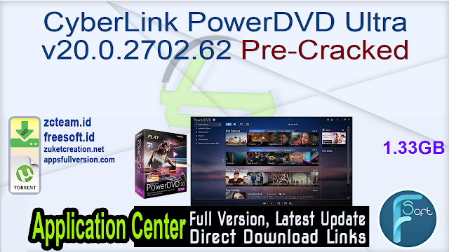 CyberLink PowerDVD Ultra v20.0.2702.62 Pre-Cracked
