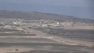 Afar Town with poor locals