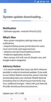 Pembaruan Android Nokia 7 Plus - OTA Screenshot