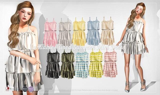 {amiable}Tired Summer Mini Dress@ACCESS(50%OFF SALE).