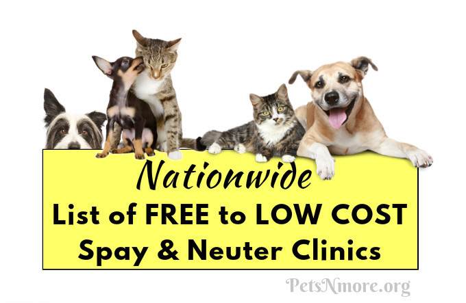 list of free to low cost spay and neuter clinics