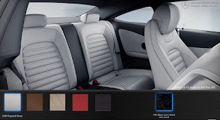 Nội thất Mercedes C300 Coupe 2018 màu Xám Crystal 218
