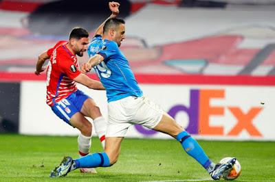 ملخص واهداف مباراة نابولي وغرناطة (0-2) الدوري الاوروبي
