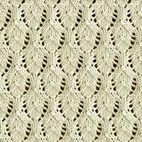 Eyelet Lace 67: Elvish Leaf | Easy to knit #knittingstitches #knittingpattern