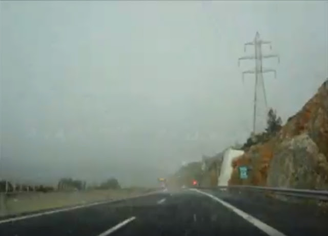 """""""Ζηνοβία"""": Χιόνι και χαλάζι νωρίς το πρωί στην Αργολίδα (βίντεο)"""