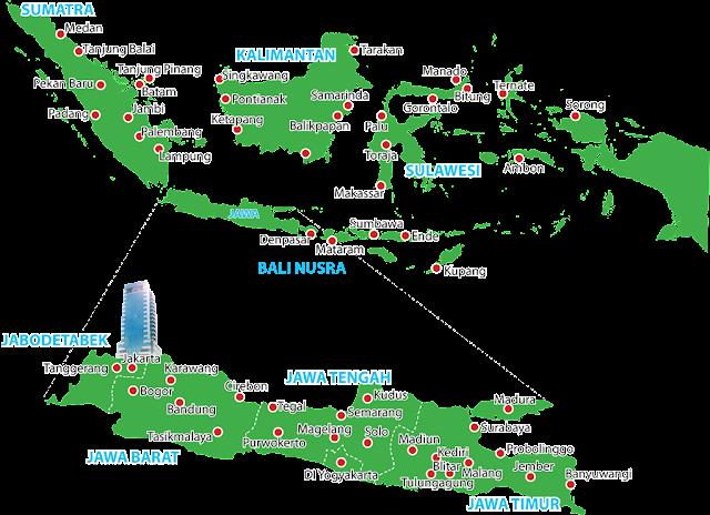 Kantor CAR Seluruh Indonesia