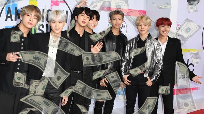كم تبلغ ثروة فرقة BTS (فتيان بانقتان)