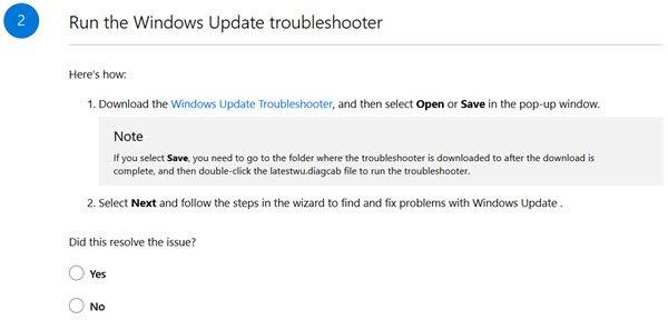 Windows Update Errors