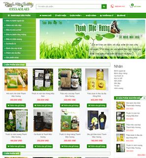 Giao diện Web bán hàng Thanh Mộc Hương - Theme Blogspot - Blogspotdep.com