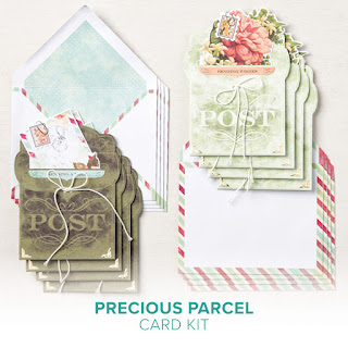 Have you seen the new Precious Parcel Card Kit from Stampin' Up!?  It's part of the new Kits Collection by Stampin' Up! and is super cute and easy.  Order yours today from Rick before they are gone