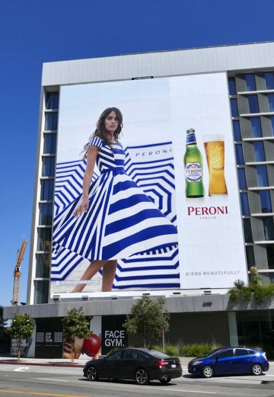 Giant Peroni Birra Beautifully billboard
