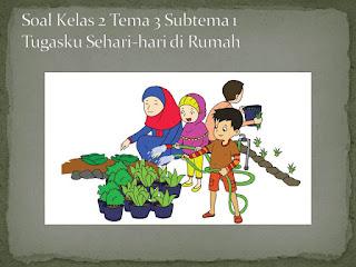 Soal Tematik Kelas 2 Tema 3 Subtema 1 Tugasku Sehari-hari