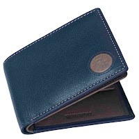 Navy/Mud Leather Wallet for men