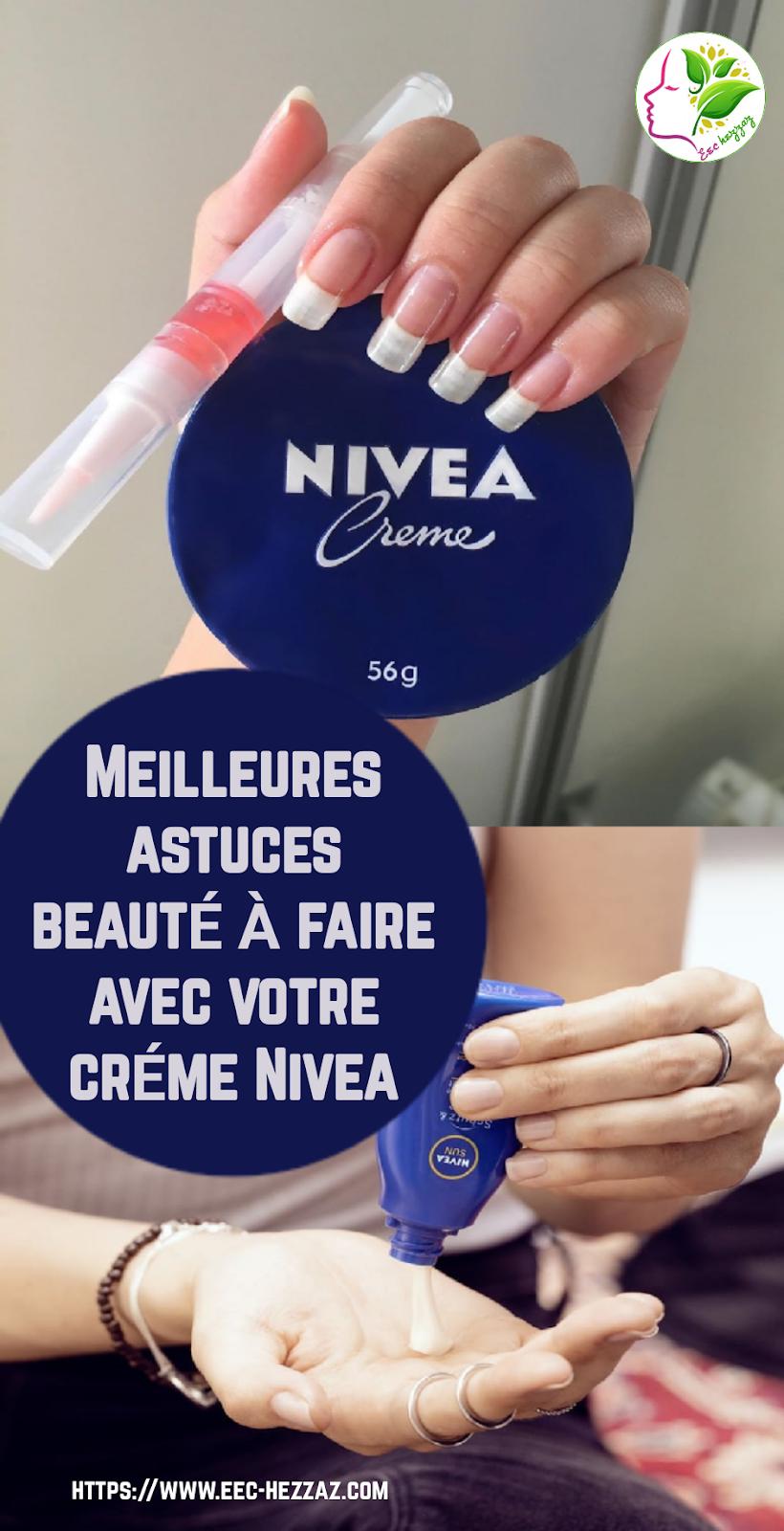 Meilleures astuces beauté à faire avec votre crème Nivea