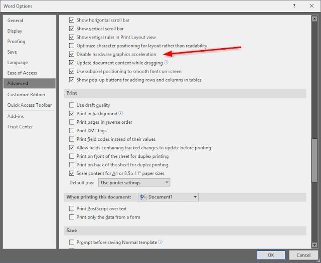 Mengatasi Microsoft Word terasa lambat ketika mengetik