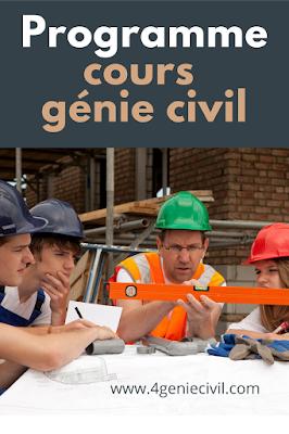 Exemple de programme de cours de Génie Civil