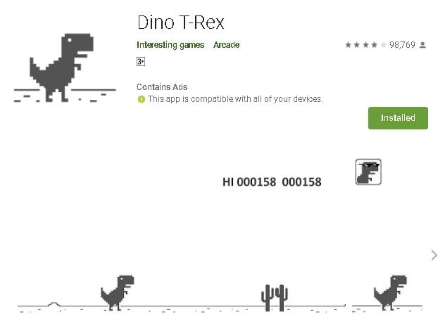 t rex game