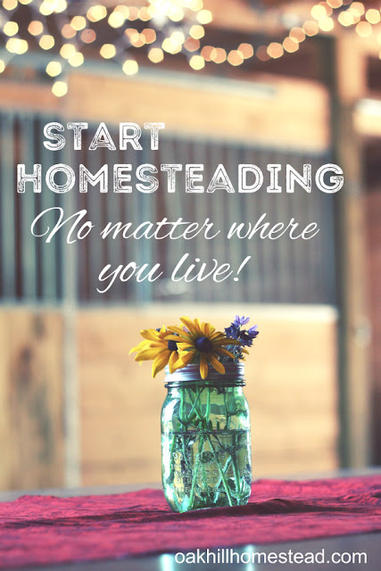 Start homesteading, living simply no matter where you are.
