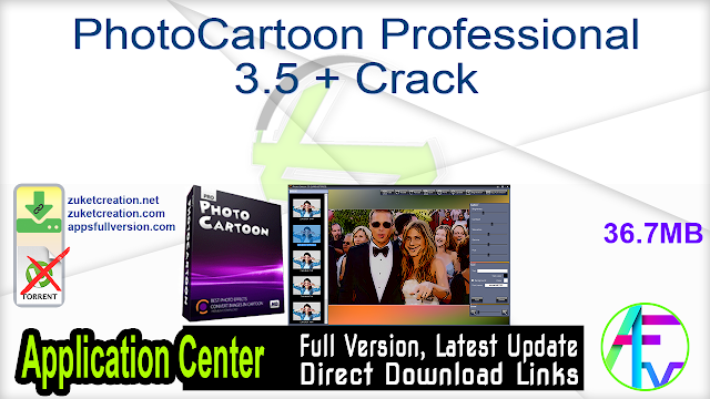 PhotoCartoon Professional 3.5 + Crack