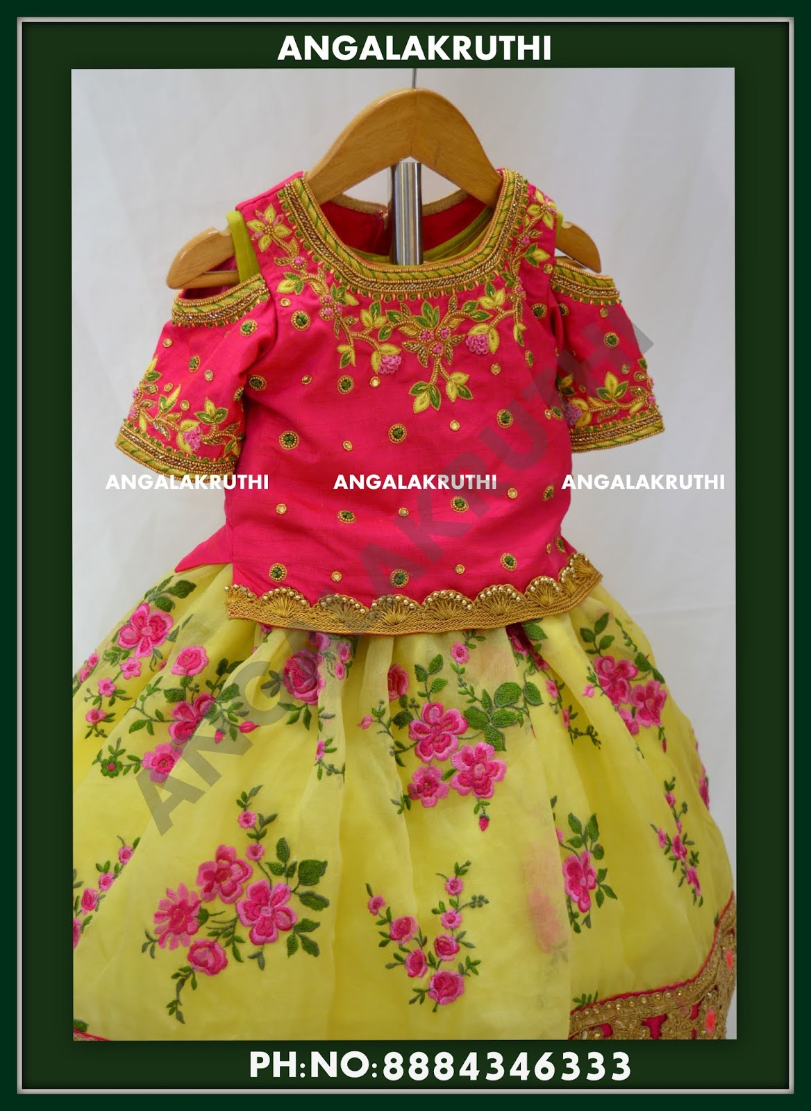 d1d8bf7dfc6 Kids custom designer dresses for 1st birthday -Designs by Angalakruthi