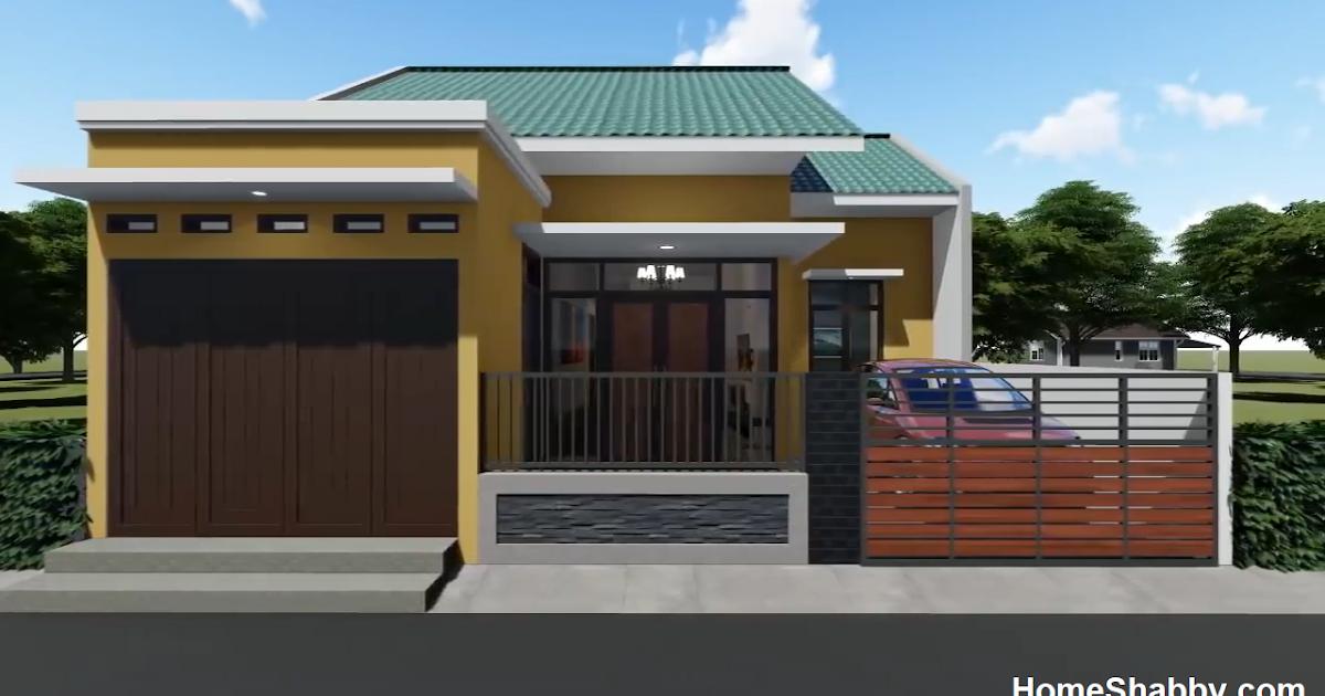 Thiết kế và quy hoạch ngôi nhà theo phong cách tối giản đơn giản Kích thước 9 x 10