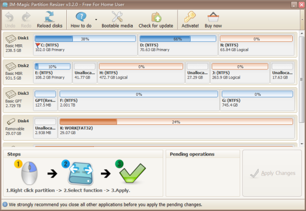 IM-Magic Partition Resizer 3.6.0 Unlimited