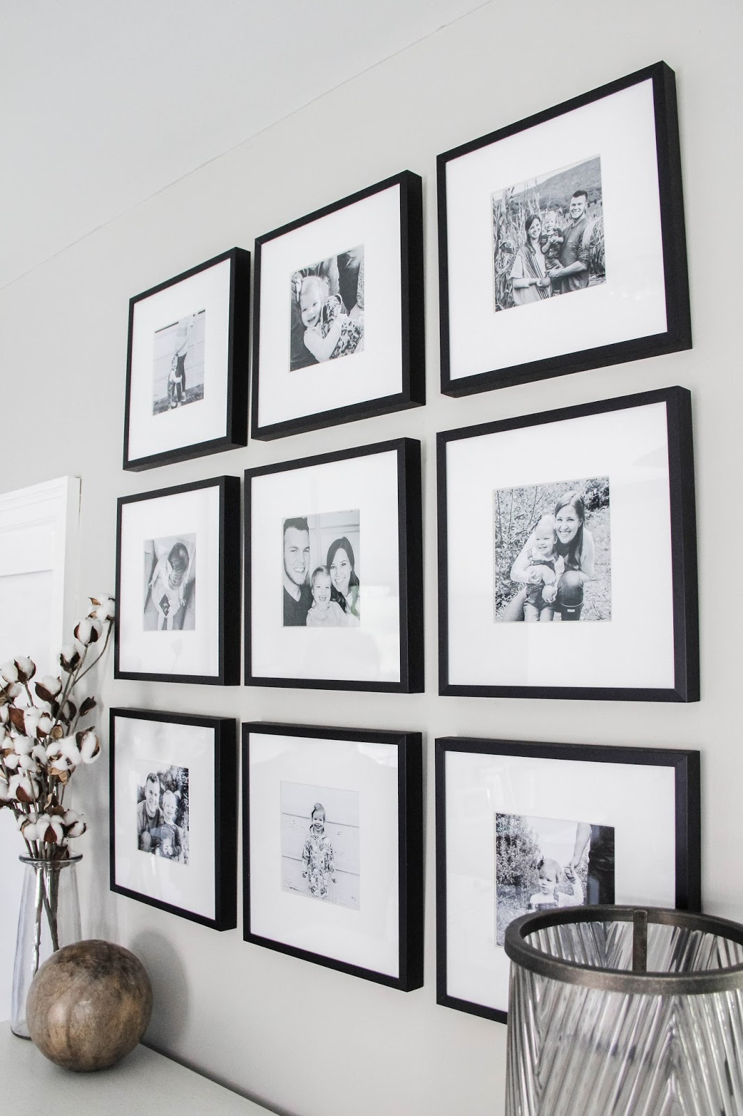 Master Bedroom Black & White Gallery Wall | Darling Do