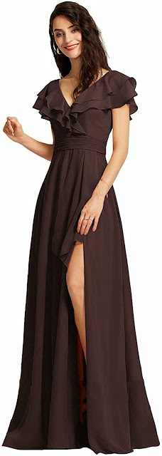 Beautiful Brown Chiffon Bridesmaid Dresses