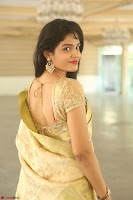 Harshitha looks stunning in Cream Sareei at silk india expo launch at imperial gardens Hyderabad ~  Exclusive Celebrities Galleries 044.JPG