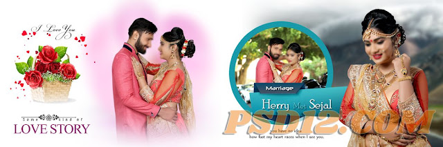 Latest Pre Wedding Album PSD DM Sheets