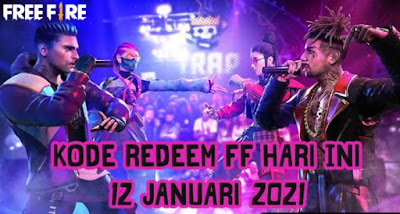 Kode Redeem Free Fire (FF) Terbaru 12 Januari 2021