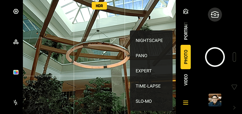 Neat looking camera user interface
