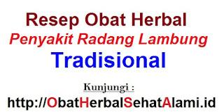 Resep Obat herbal alami penyakit radang lambung tradisional