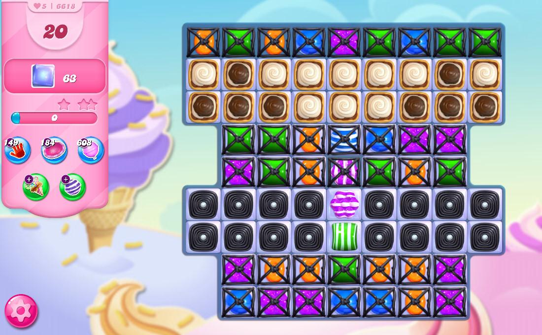 Candy Crush Saga level 6618