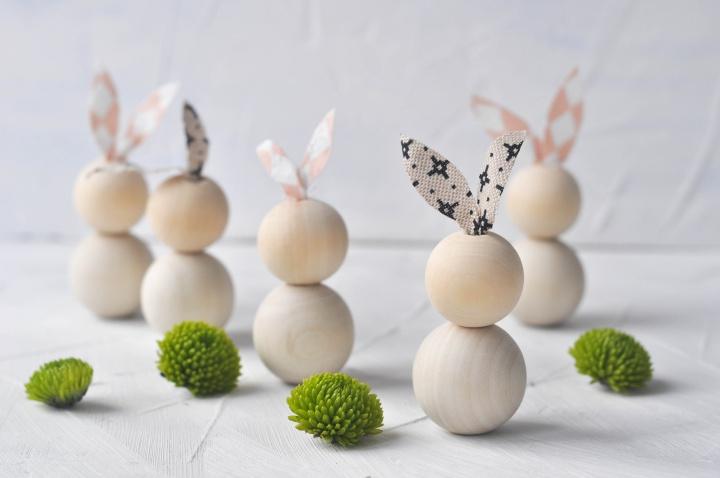5-minutes DIY Easter Bunnies