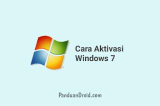 Cara Aktivasi Windows 7 Permanent Secara Offline Terbaru