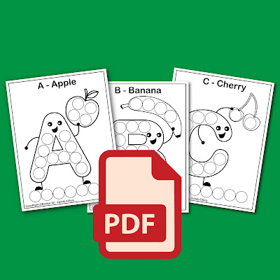 free printable  coloring book pages to print  do a dot marker coloring book pdf free download for preschoolers abcd alphabet teaching the alphabet to preschoolers learning abc for toddlers abc letters