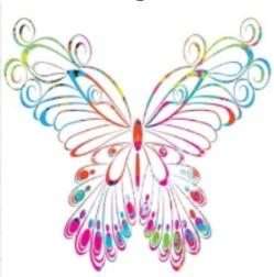 ilustrasi motif gambar dari kupu-kupu
