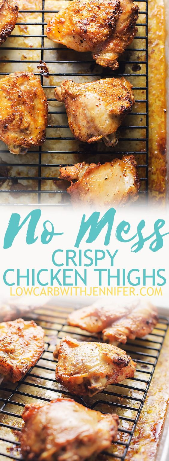 No Mess Crispy Chicken Thighs Recipe