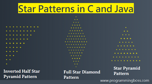 How to print star pattern ( * ) in C programming ?