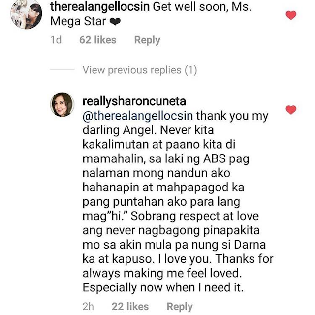 Sharon Cuneta And Angel Locsin Exchanged Sweet Messages On Instagram