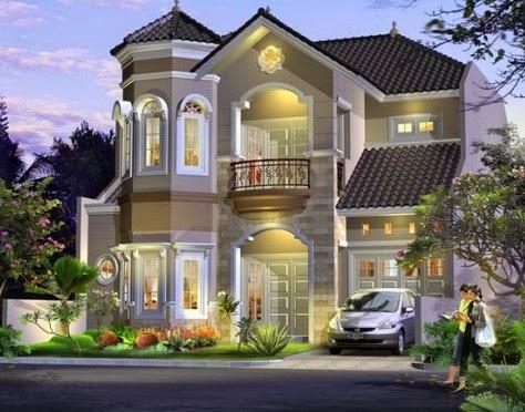 contoh gambar desain rumah modern 2015 ala eropa - gambar