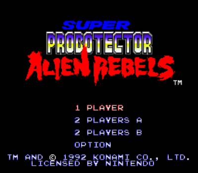【SFC】機甲超級魂斗羅Hack按鍵換槍版,Super Probotector-The Alien Rebels!