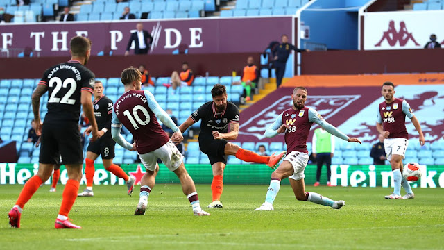 Chelsea forward scoring the winning goal as the blues came from behind to beat Villa away