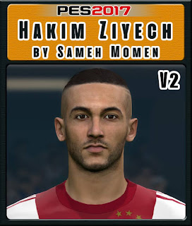 PES 2017 Faces Hakim Ziyech by Sameh Momen